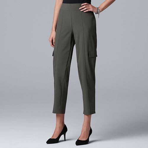 Women's Simply Vera Vera Wang Everyday Movement Utility Pull-On Mid-Rise Pants