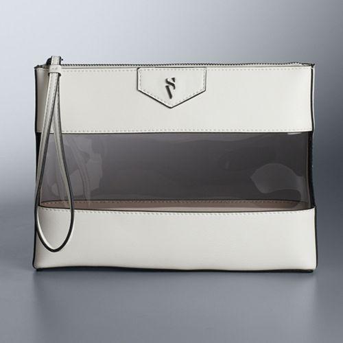 Simply Vera Vera Wang Transparent Zipper Pouch