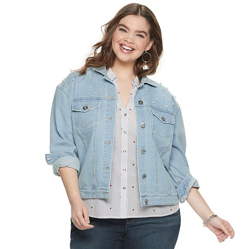 NEW! Juniors' Plus Size Candie's® Denim Jacket