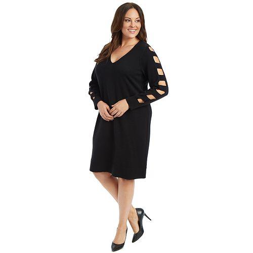 Plus Size 89th & Madison Cage Sleeve Shift Dress