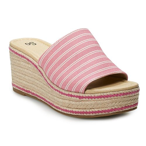 SO® Boysenberry Women's Wedge Slides