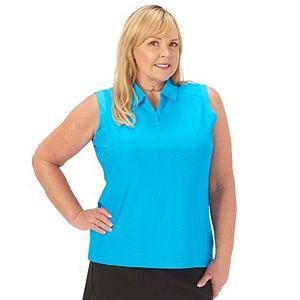 Plus Size Nancy Lopez Sleeveless Polo