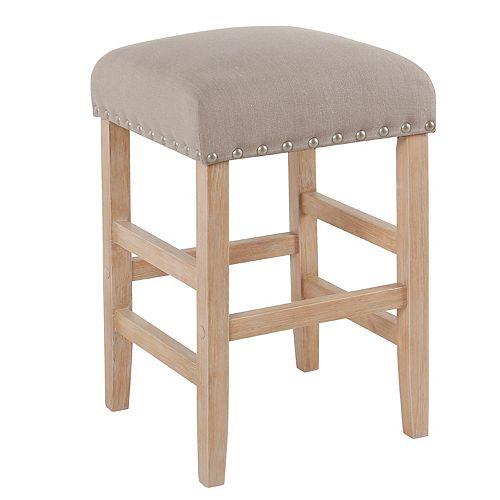 Amazing Homepop Blake Open Back Counter Stool Short Links Chair Design For Home Short Linksinfo