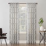 SONOMA Goods for Life? 2-pack Medallion Printed Crushed Voile Window Curtains