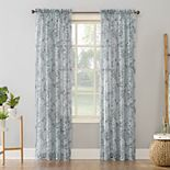 SONOMA Goods for Life? 2-pack Elenor Sketched Floral Print Crushed Voile Window Curtains