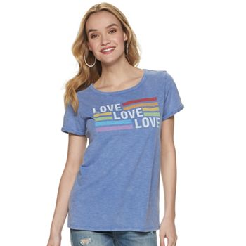 "Women's Rock & Republic ""Love"" Rainbow Graphic Tee"