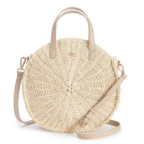 LC Lauren Conrad Round Crossbody Bag