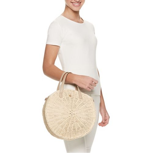 LC Lauren Conrad Round Crossbody Bag
