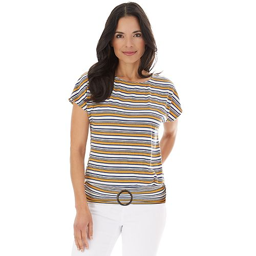 Women's Apt. 9® Dolman Sleeve Top with Buckle Bottom