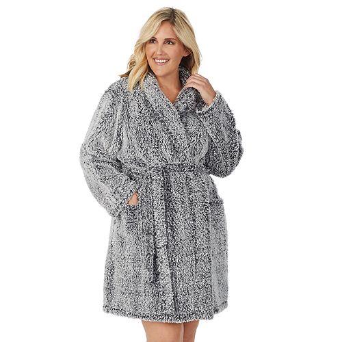 """Women's Stan Herman 36"""" Plus Shawl Wrap Robe"""