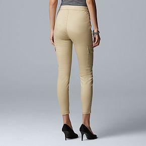 Simply Vera Vera Wang Women's Denim Cargo Skimmer Pants