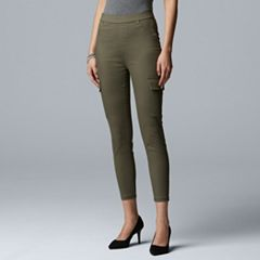 Simply Vera Vera Wang Women's Denim Cargo Skimmer Pants