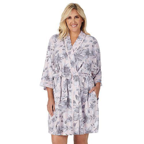 "Women's Stan Herman 36"" Kimono Robe Plus"