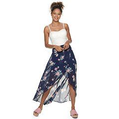 NEW! Juniors' Lily Rose Hi Low Molded Cup Maxi Dress