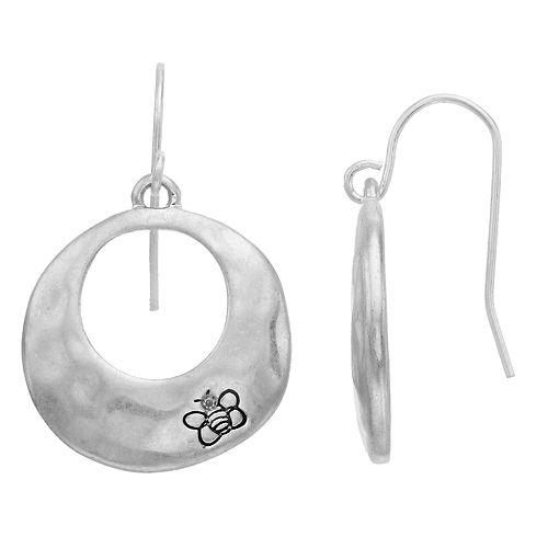 Bella Uno Hoop Drop Earrings