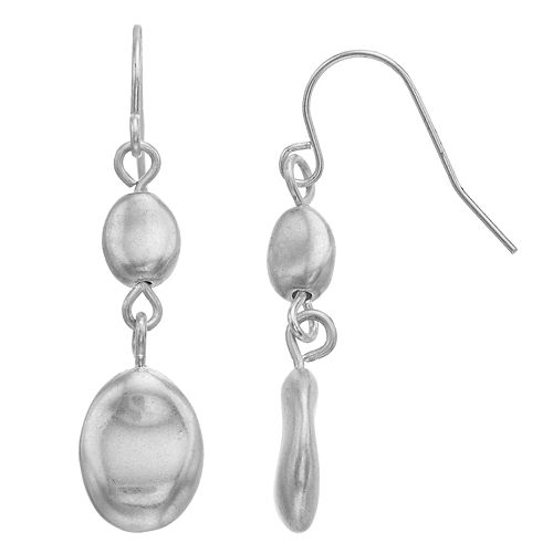 Bella Uno Double Oval Drop Earrings