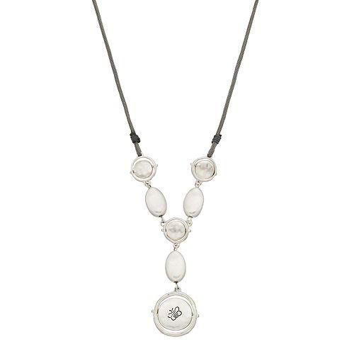 Bella Uno Disc Y-Drop Necklace