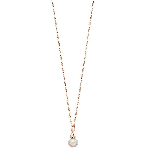 14k Gold Over Silver Pink Freshwater Pearl Pendant