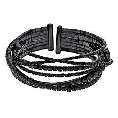 Simply Vera Vera Wang Black Chain Bangle Bracelet