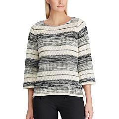 5b7d93ba700c Women s Chaps Striped Boatneck Sweater. sale