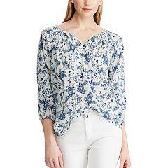 08651e8d1c6062 Womens Chaps 3/4 Sleeve Tops, Clothing | Kohl's