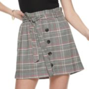 NEW! Juniors' Love, Fire Button Front Paperboy Skirt