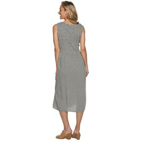 Petite Croft & Barrow® Smocked Midi Dress