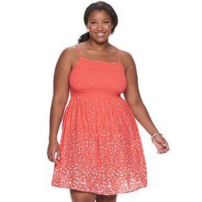Juniors' Plus Size SO® Smocked Bodice Dress