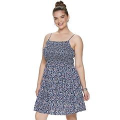 Juniors' Plus Size SO® Smocked Bodice Dress