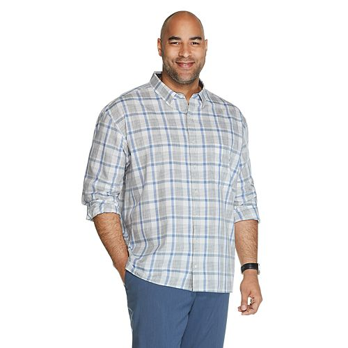 Big & Tall Van Heusen Never Tuck Slim Fit Shirt