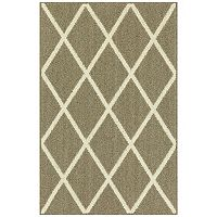 Deals on Maples Solid Diamond Area & Washable Throw Rug 20X34-in