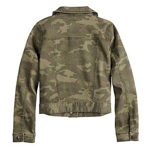 Girls 7-16 Mudd Printed Denim Jacket