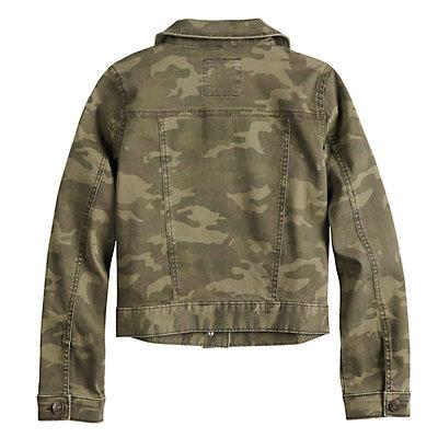 Girls' Mudd® Printed Denim Jacket