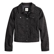 Girls' Mudd® Printed Denim Jacket