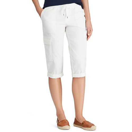 Women's Chaps Pull-On Drawstring Cargo Capris
