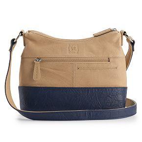 Stone & Co. Irene Double-Entry Leather Hobo Bag