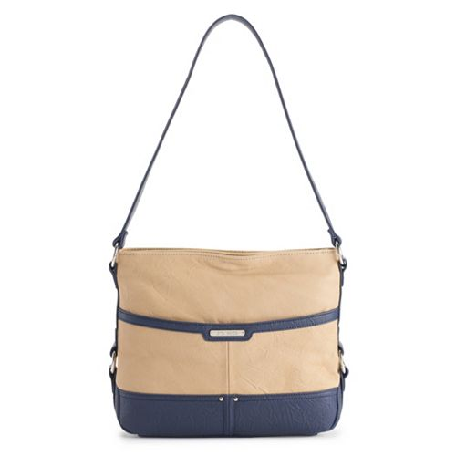 Stone & Co. Lacie Double-Entry Leather Hobo Bag