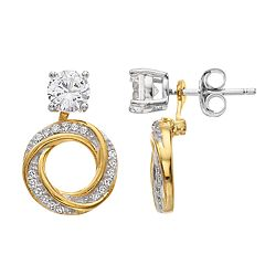 Pure Radiance Lab-Created White Sapphire & Diamond Accent Convertible Stud Earrings