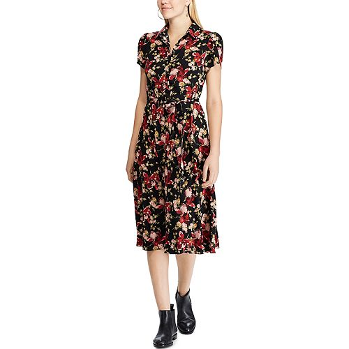 Women's Chaps Floral Fit & Flare Shirtdress