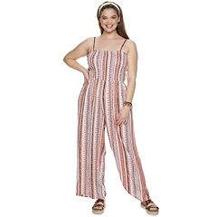NEW! Juniors' Plus Size Mudd® Smocked Bodice Jumpsuit