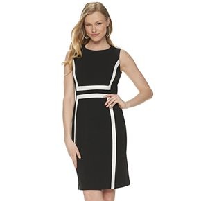Women's Apt. 9® Sleeveless Printed Stretch Crepe Sheath Dress