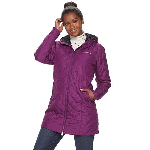 Women's Columbia Copper Crest Quilted Long Jacket by Columbia