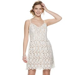Juniors' Love, Fire Lace Skater Dress