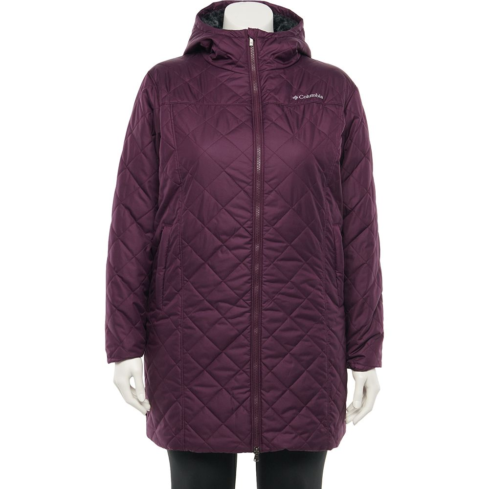 Plus Size Columbia Copper Crest Quilted Long Jacket