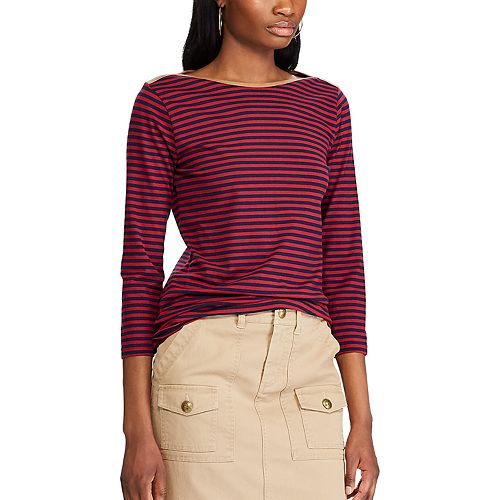 Women's Chaps Striped Boatneck Top