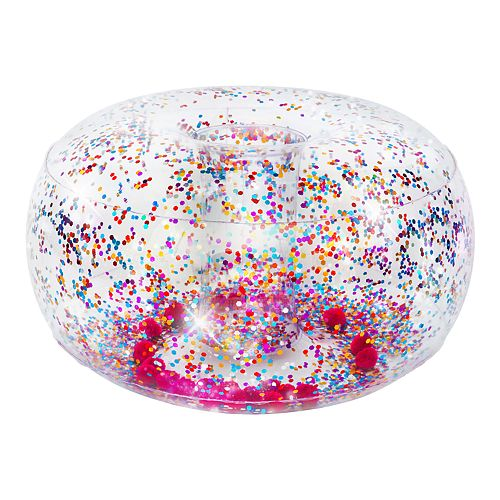 The Big One® Glitter & Pom Inflatable Ottoman