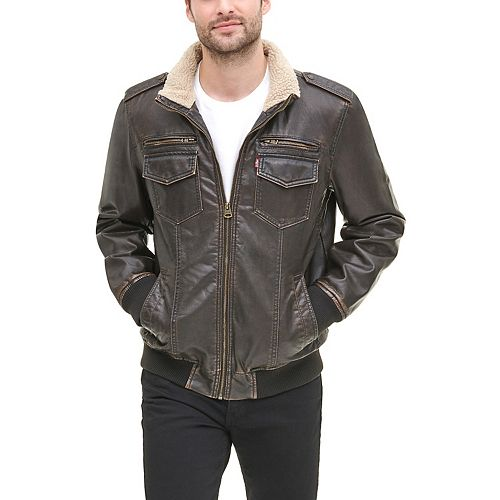 Men's Levi's Aviator Sherpa-Lined Bomber Jacket