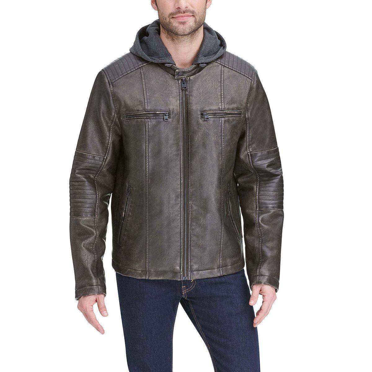 Men's Levi's® Hooded Racer Jacket Black LbV58