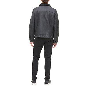 Men's Levi's Faux-Leather Sherpa-Lined Trucker Jacket