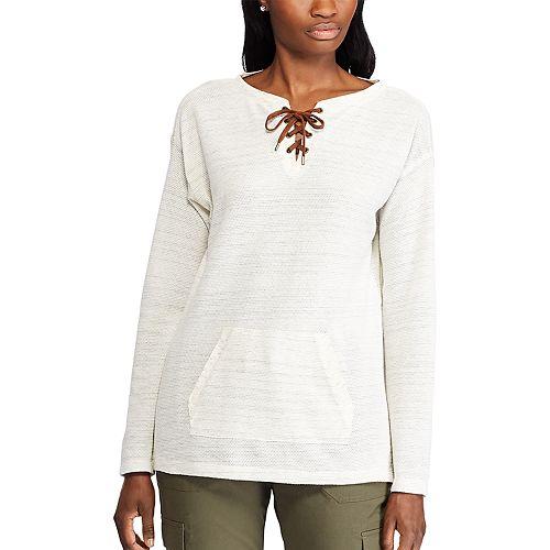 Women's Chaps Lace-Up Sweatshirt